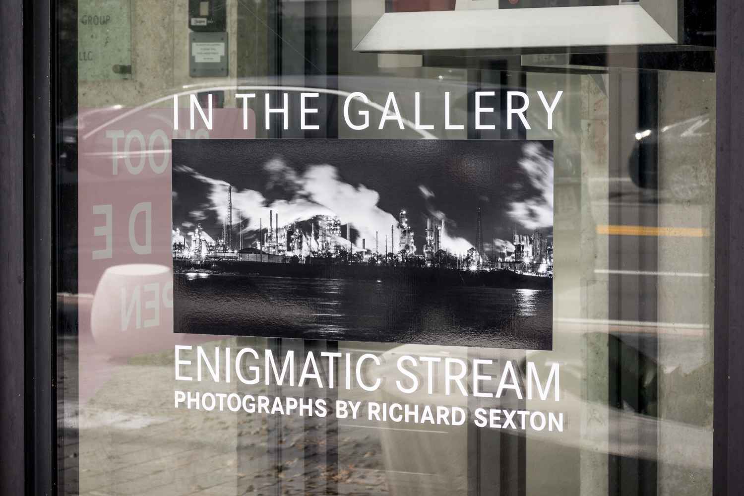 Enigmatic Stream exhibit installation, Leica Store Miami